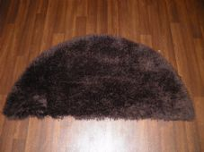 HALF MOON SHAGGY RUGS 60CMX120CM WOVEN REALLY GOOD QUALITY SUPER THICK BROWN NEW